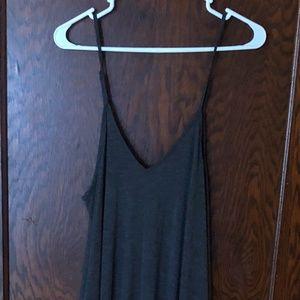 Gray cami tank max dress